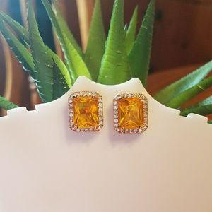 Gold filled Citrine gemstone earrings